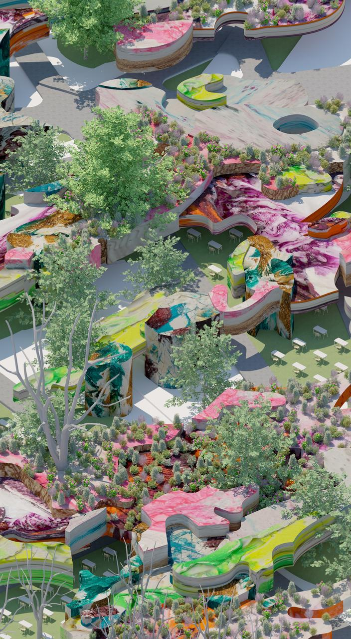 Urban design, Plant, Flower, Green, Flowerpot, Grass, Biome, Leisure