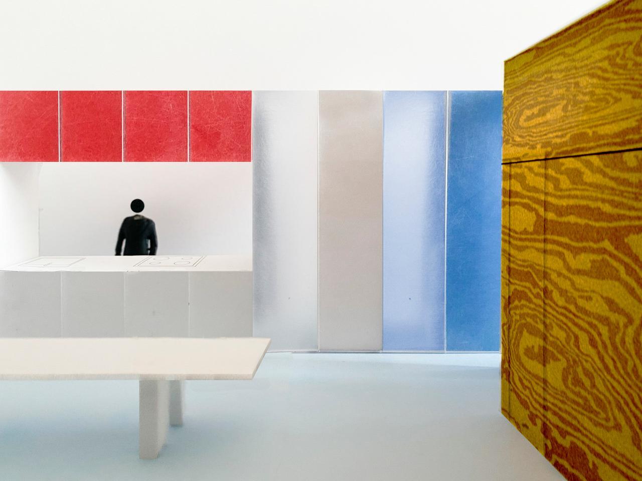Material property, Rectangle, Art, Shelving, Paint, Floor, Line