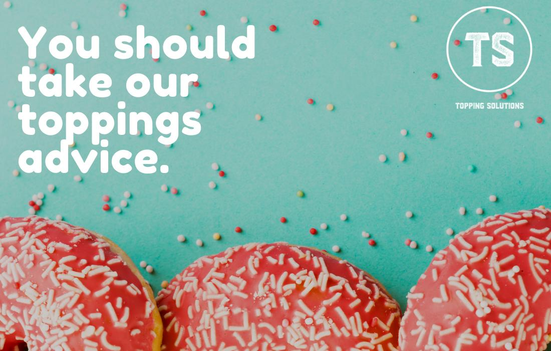 Food, Font, Half-page ad, Donuts, Icing, Sprinkles, Teal background