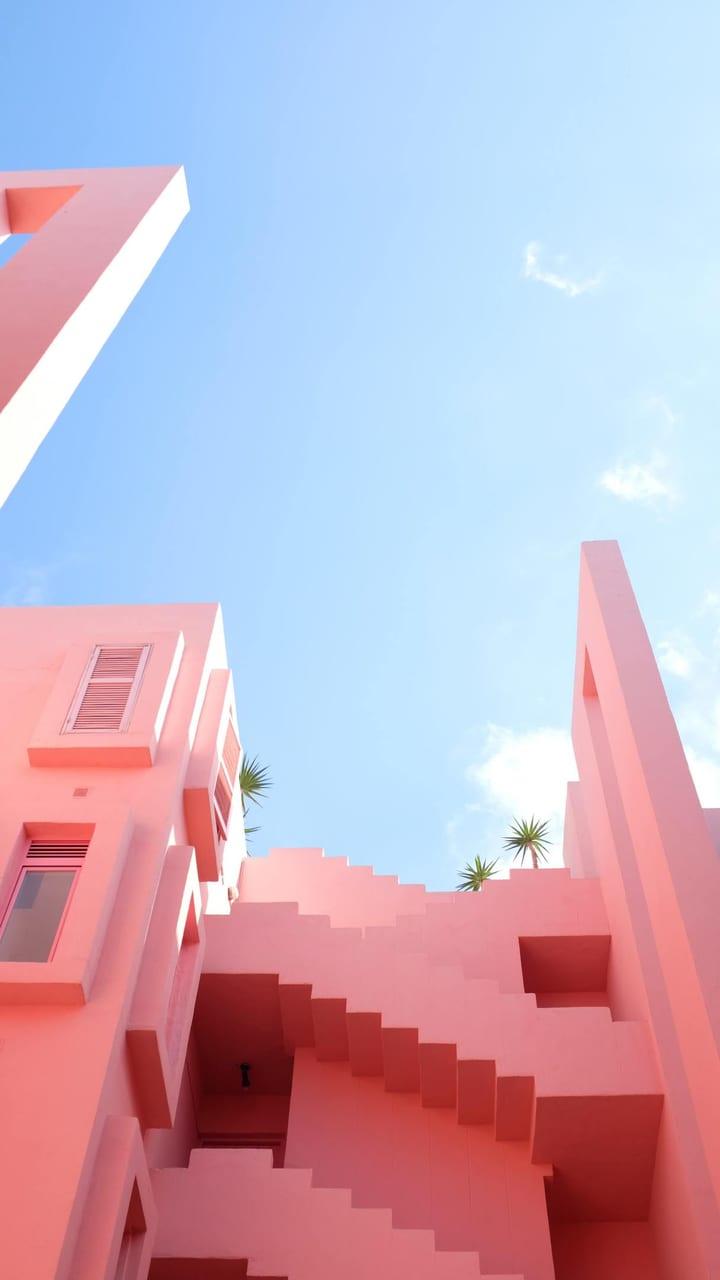 Urban design, Cloud, Sky, Pink, Red