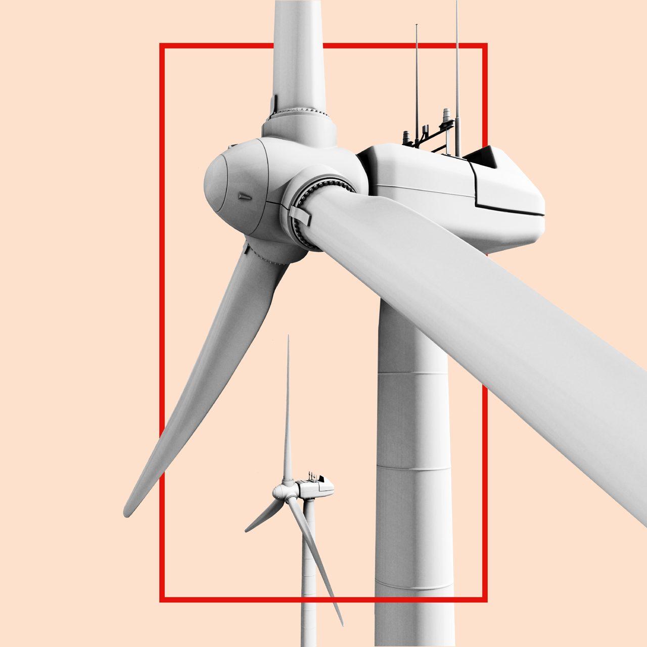 Wind turbine, Windmill, Propeller, Line