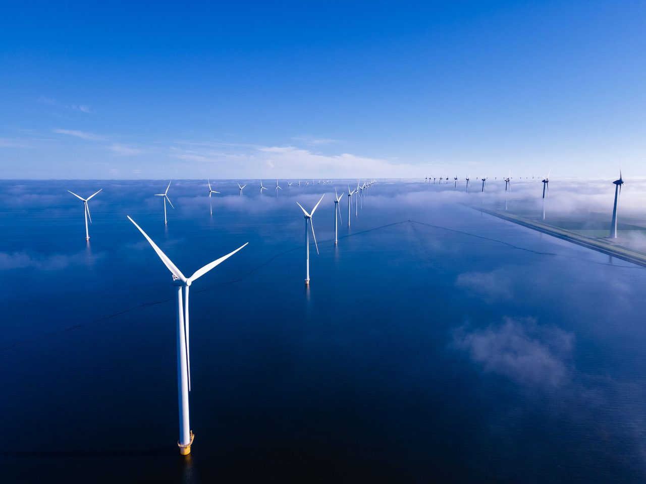 Wind turbines in the ocean