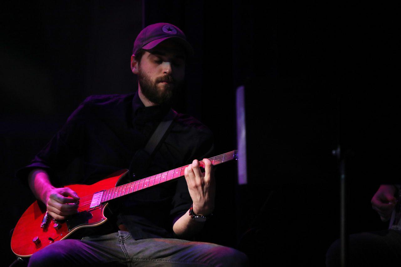 String instrument accessory, Guitar, Musician, Guitarist, Purple