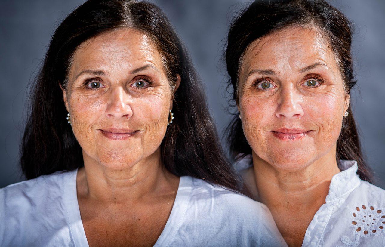 Human body, Nose, Smile, Cheek, Skin, Lip, Eyebrow, Shoulder, Mouth, Neck