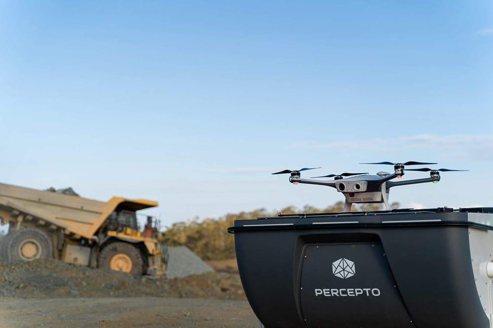 Percepto Drone In A Box In A Mining Site