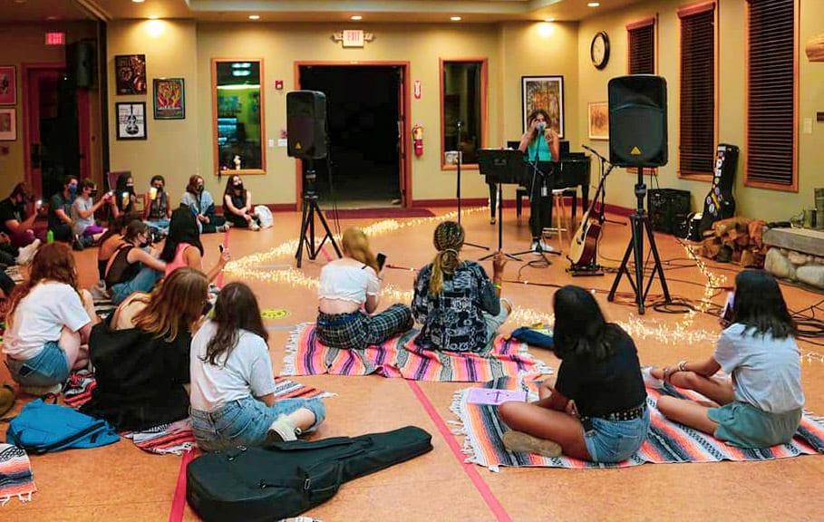 Musical instrument, Drum, Leisure, Sharing, Chair, Community