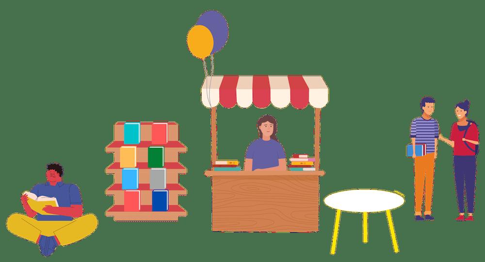 C.H. Beck Buchmesse-Stand zum Lese Herbst