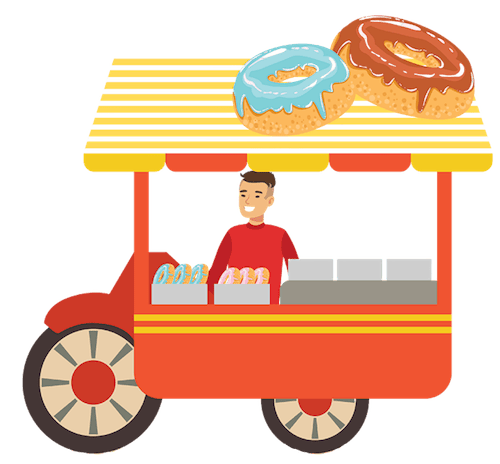 Donut Stand Lese Herbst