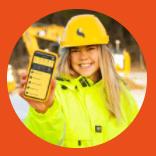 Hard hat, Mobile phone, Smile, Helmet, Workwear, Happy, Recreation, Telephone