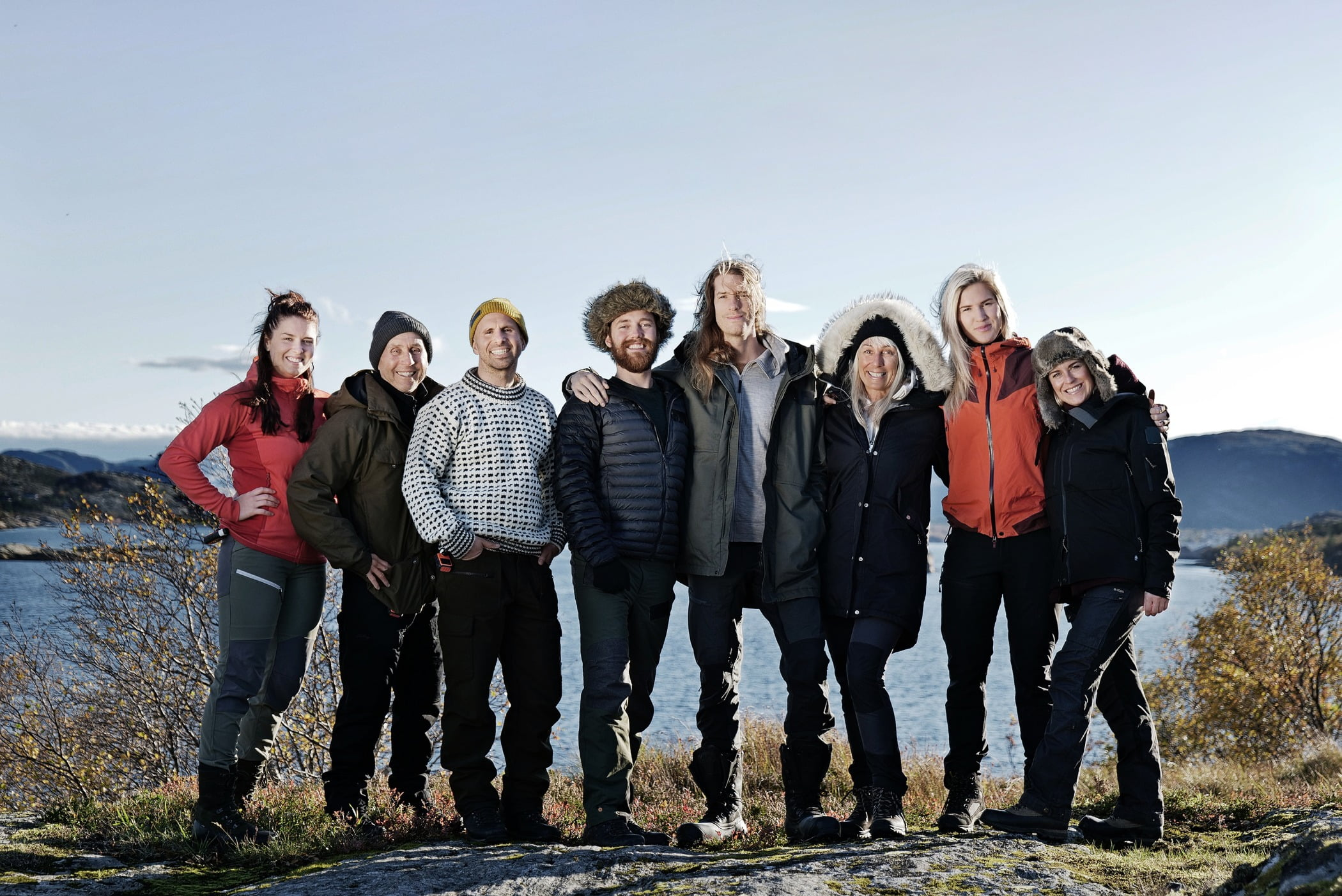 People in nature, Natural landscape, Outdoor recreation, Sky, Smile, Ecoregion, Mountain, Happy, Highland, Travel