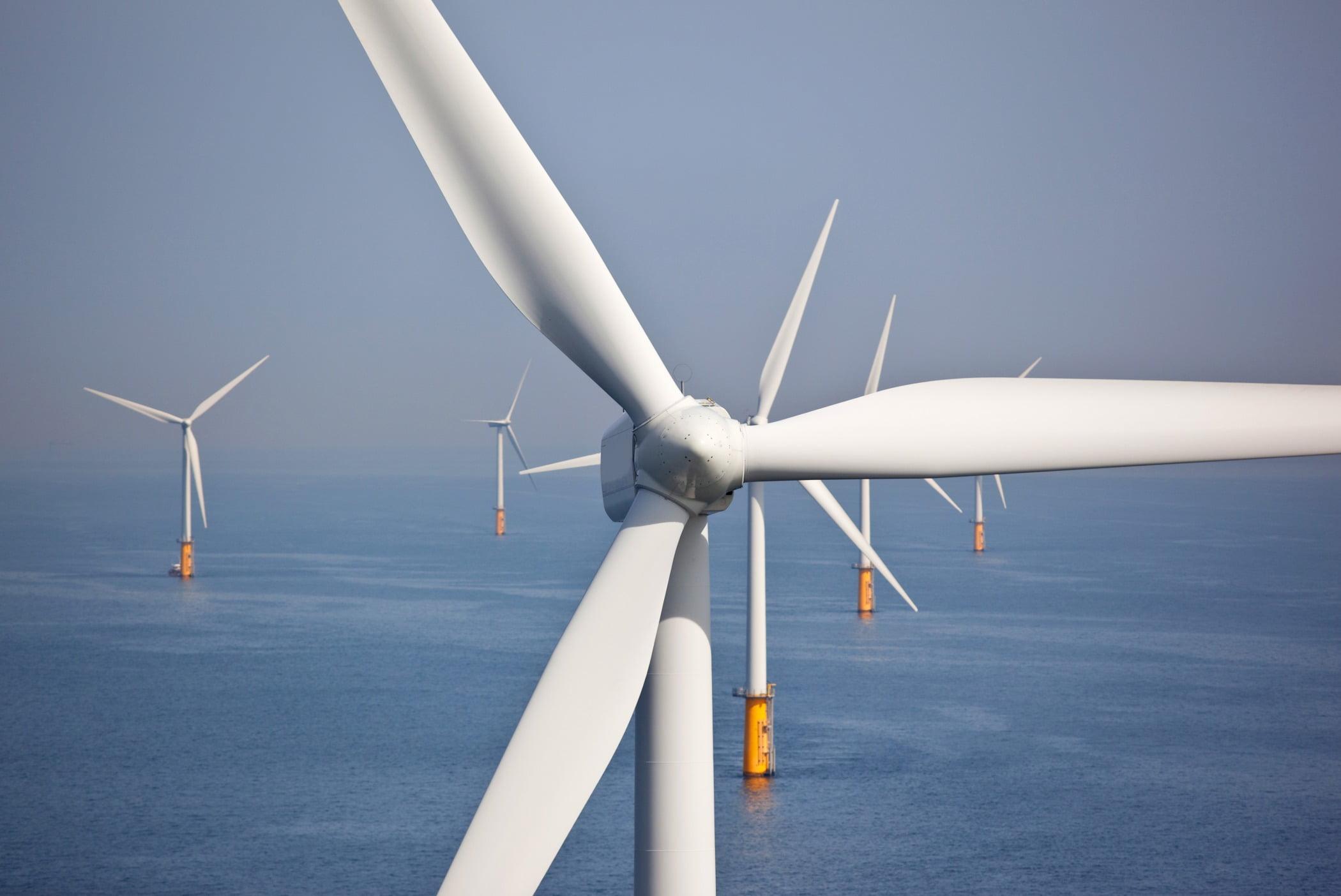 Wind farm, Windmill, Sky, Nature, Propeller, Turbine, Line