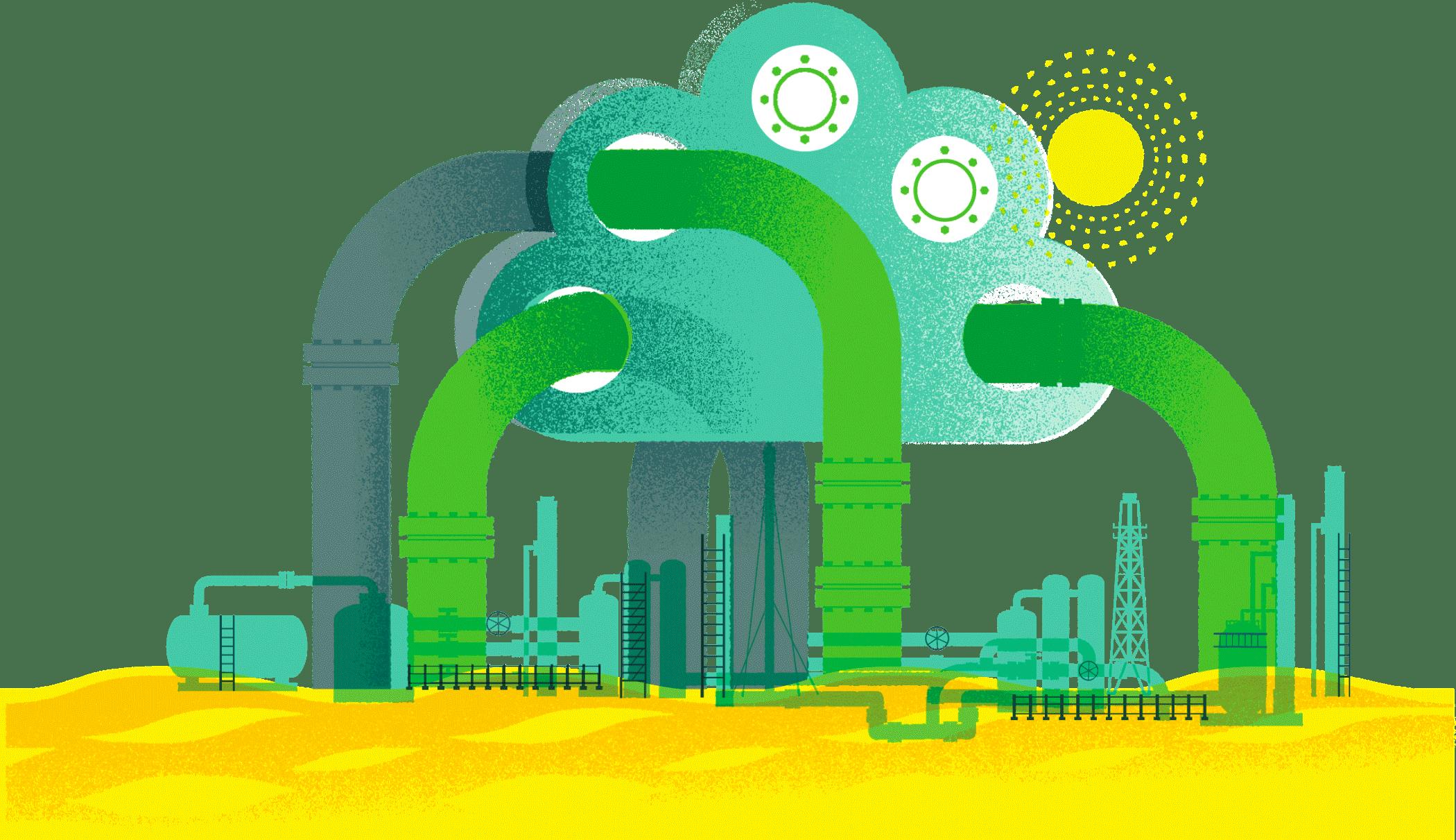 Illustration, Green