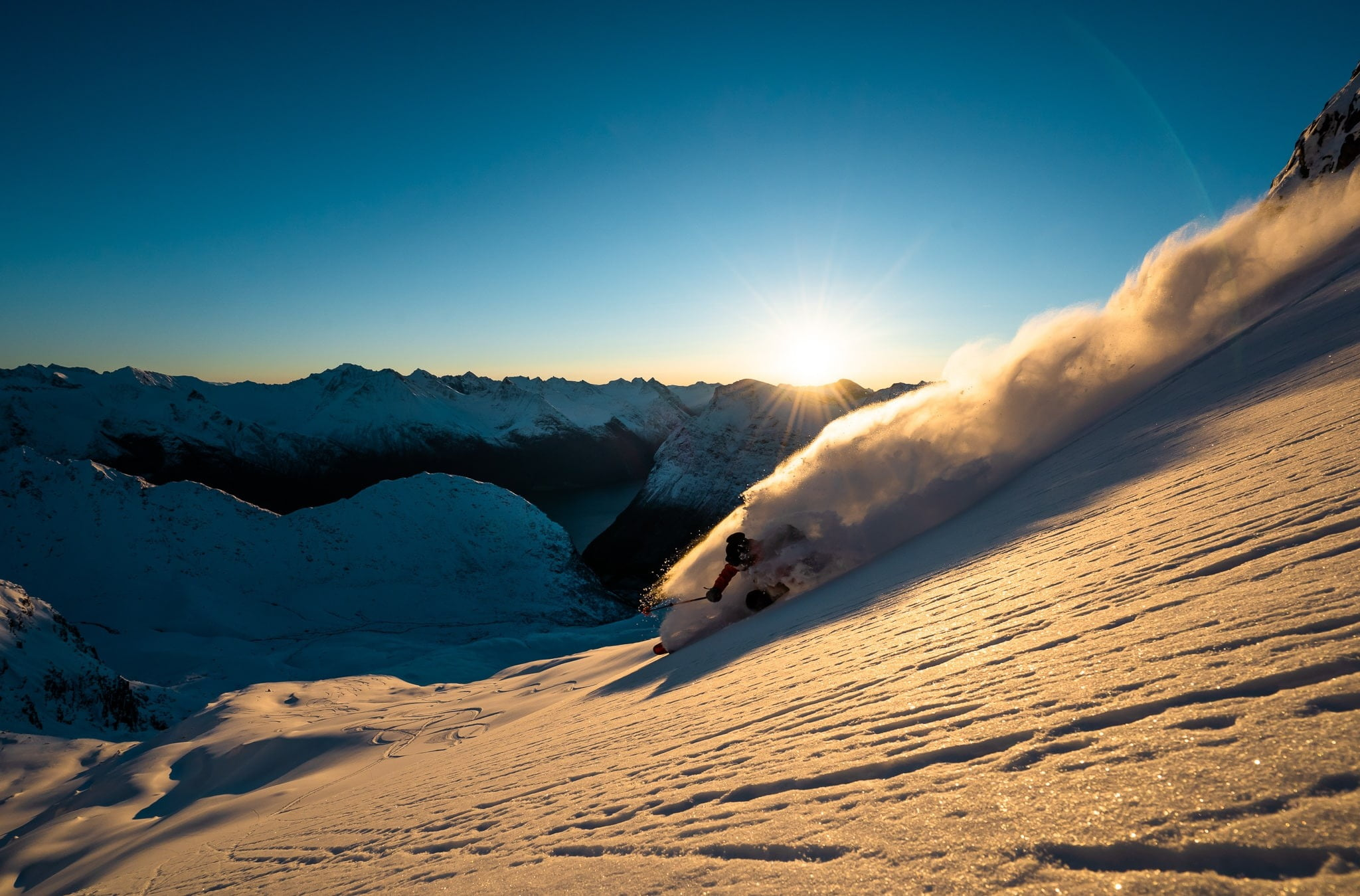 Geological phenomenon, Sunlight, Slope, Winter