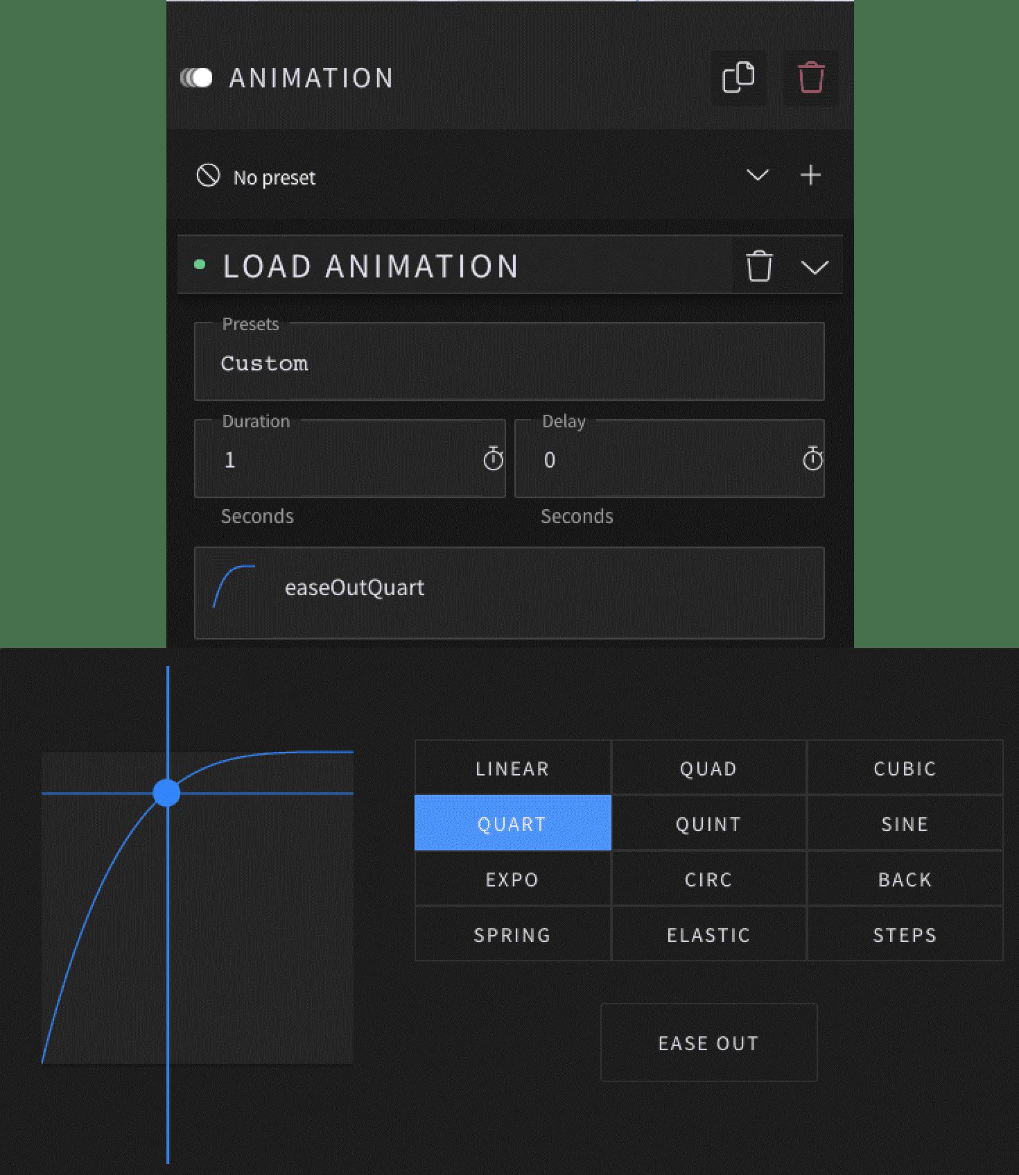 User interface, animation