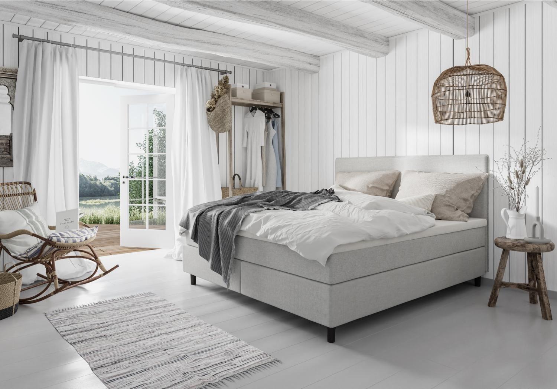 Bed frame, Interior design, Building, Furniture, Cabinetry, White, Comfort, Window, Wood, Drawer
