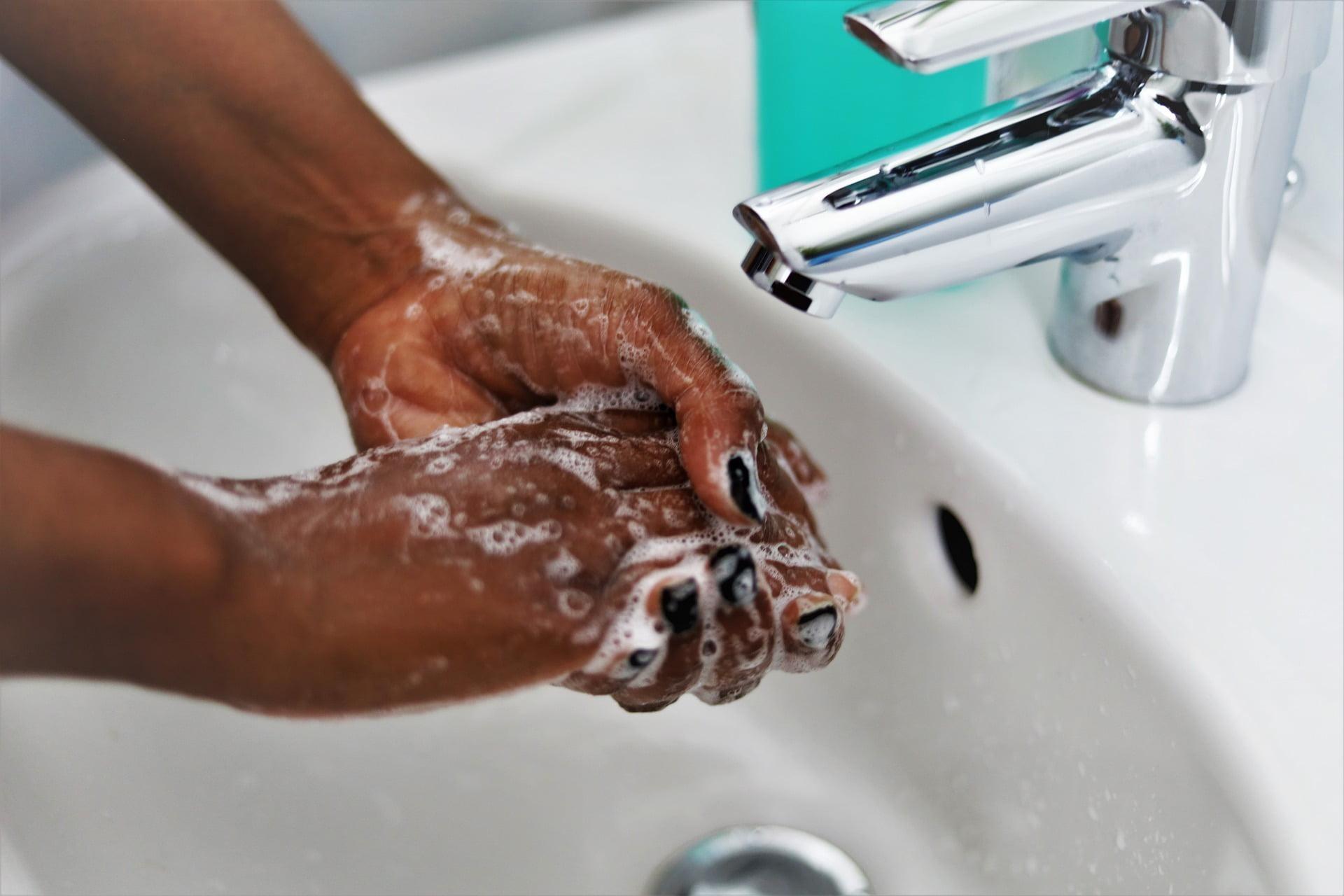Plumbing fixture, Sewing machine, Hand, Tap, Water, Sink, Liquid, Fluid, Finger