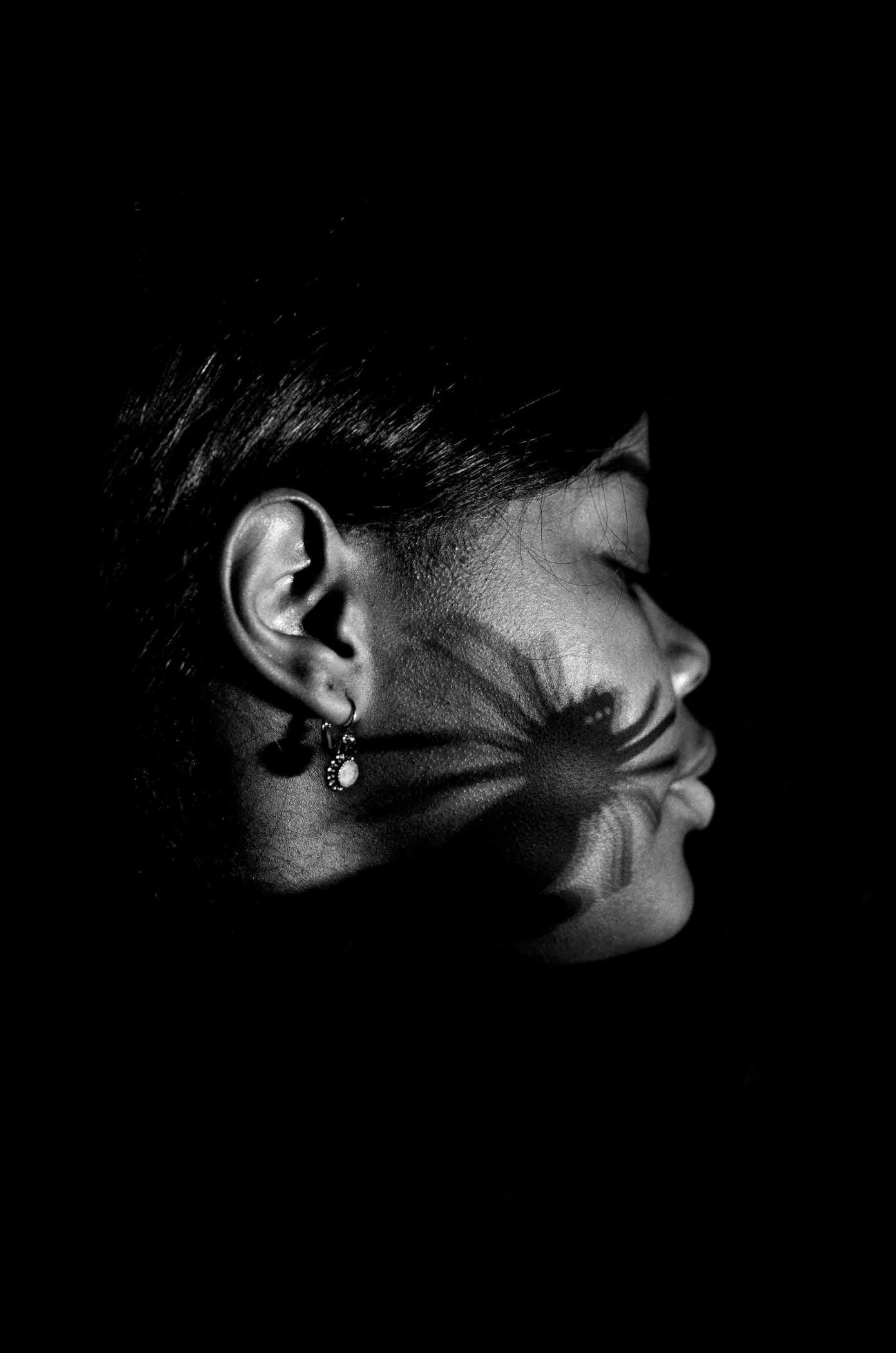 Monochrome photography, Body jewelry, Fashion accessory, Darkness, Style, Jewellery, Skin, Earrings, Ear