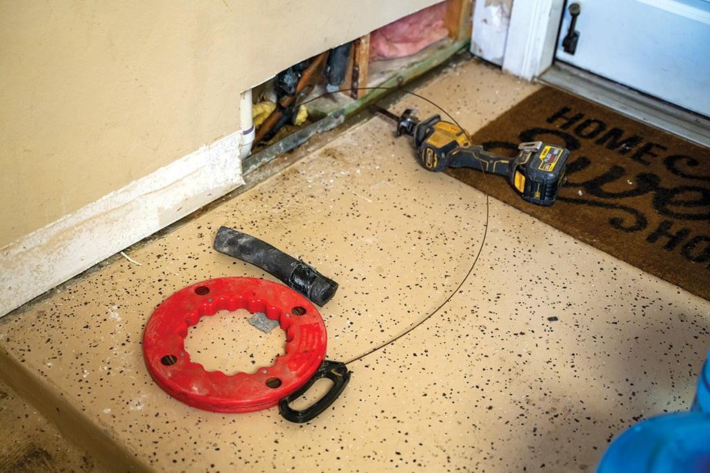 Radiant plumber Tyler Blanchard, Tools, leak detection