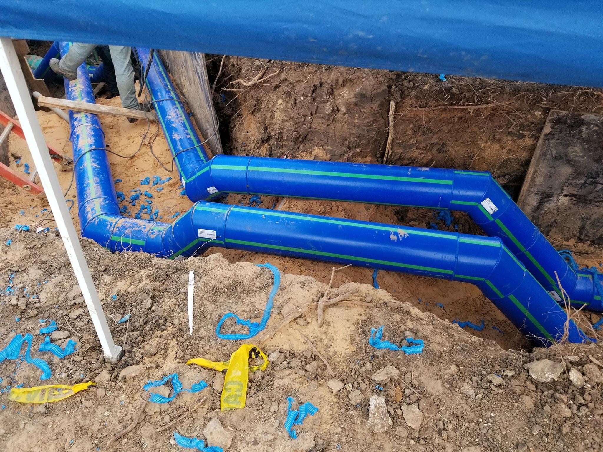 Steel casing pipe, Pipeline transport, Blue