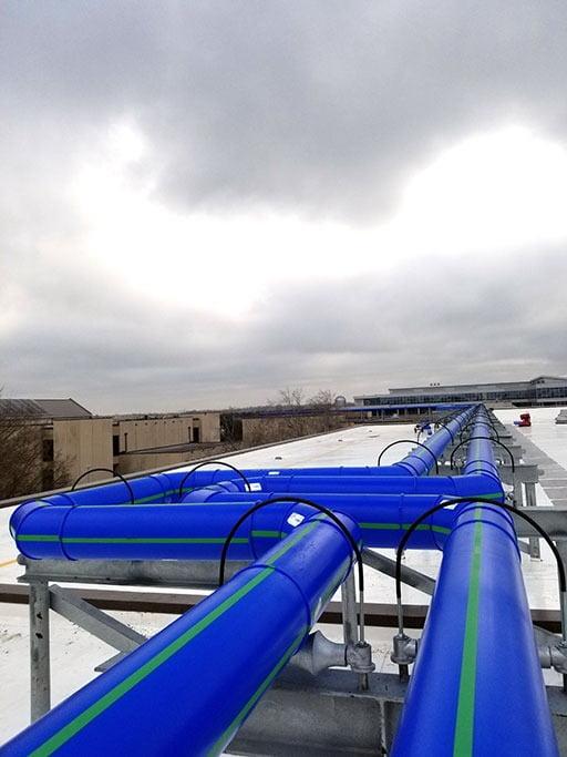 Steel casing pipe, Cloud, Sky, Blue, Water