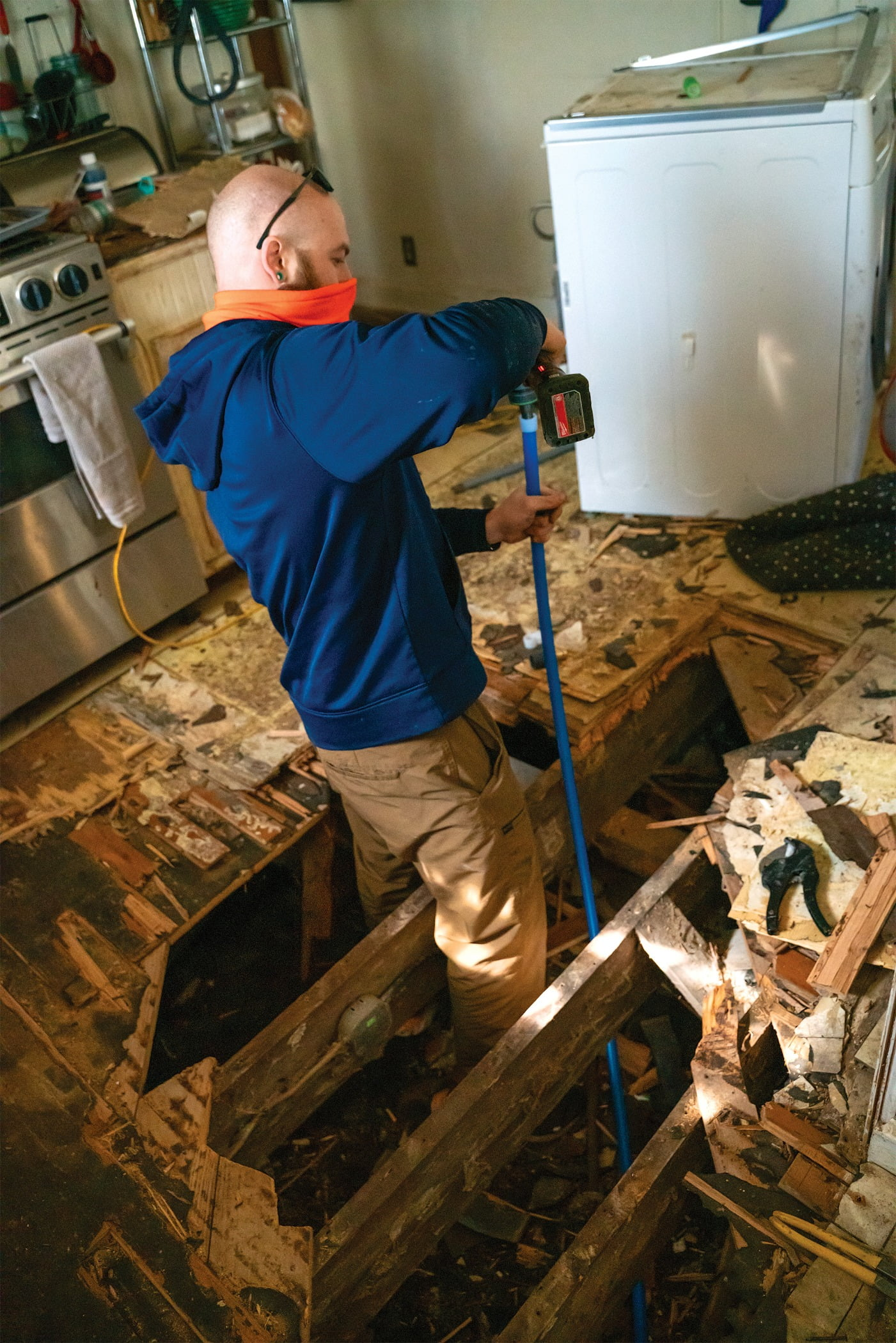 Radiant Plumber Matthew King, plumbing contractor, repair broken pipes, Texas freeze
