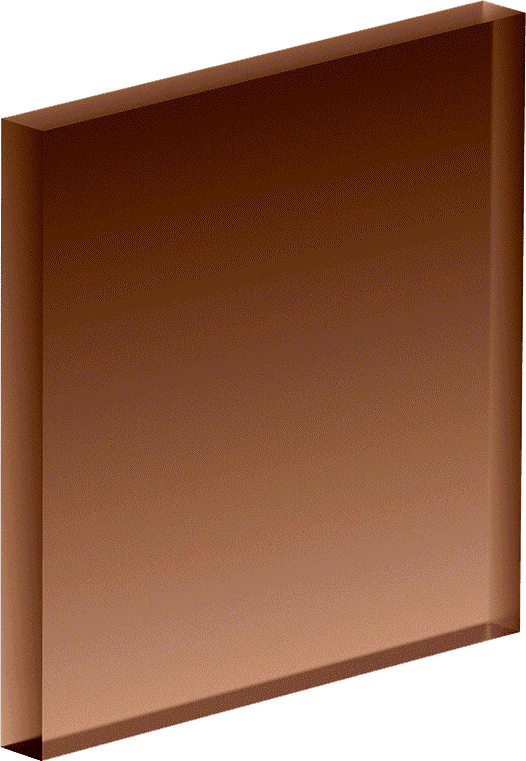 Square, 3D, brown