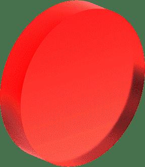 Circle, 3D, Red