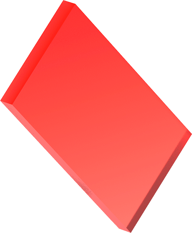 Rectangle, 3D, Red