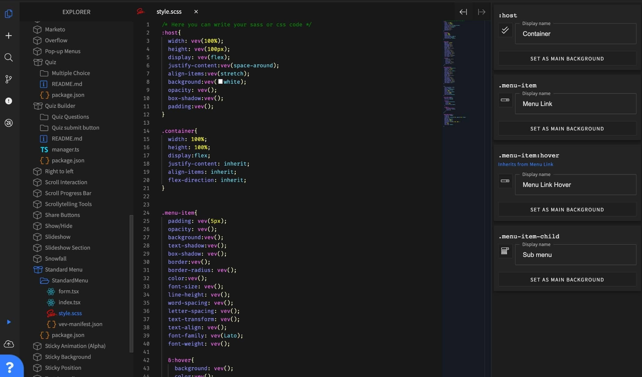 Code Editor, preview