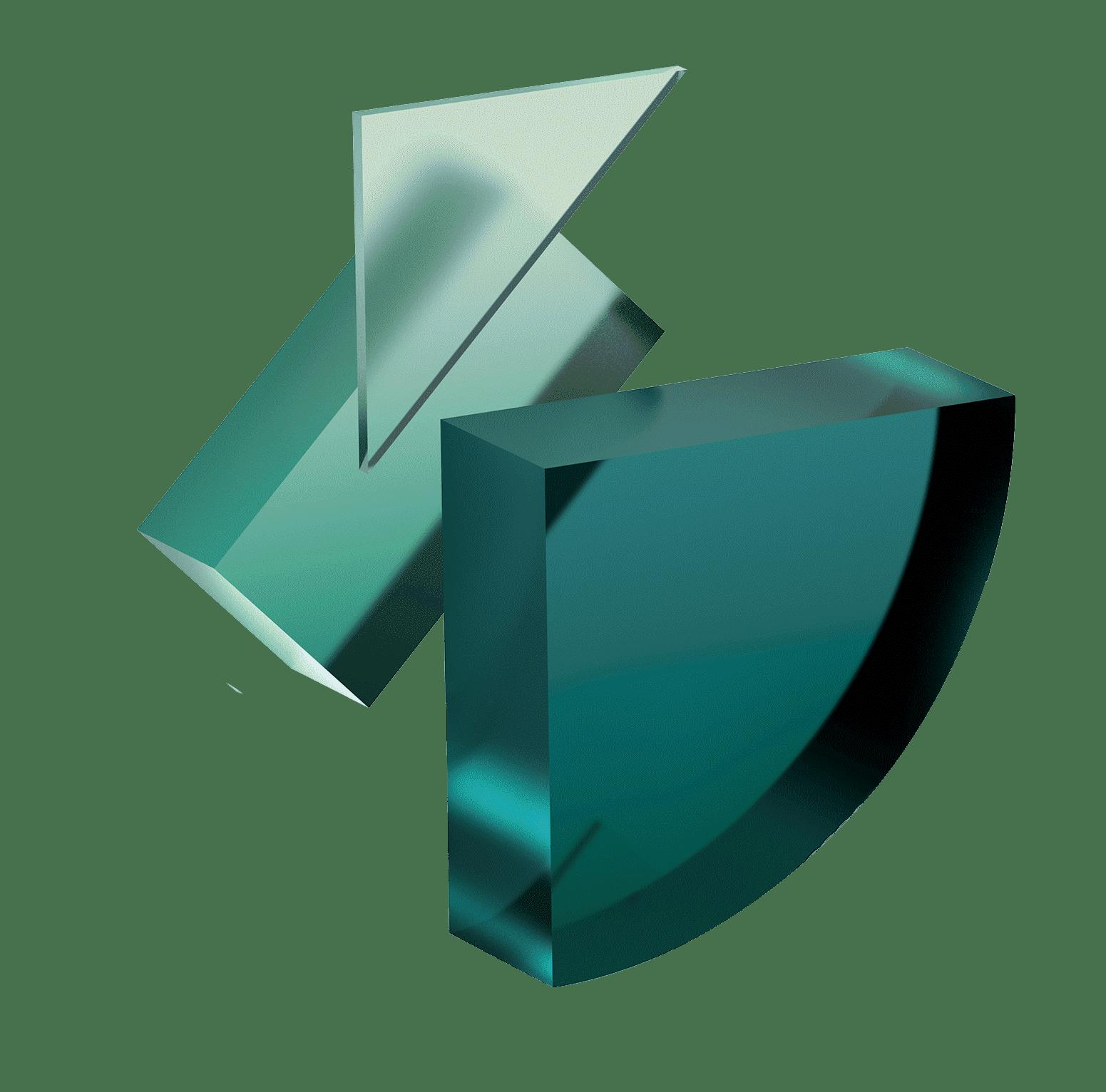 Shapes, Green, 3D