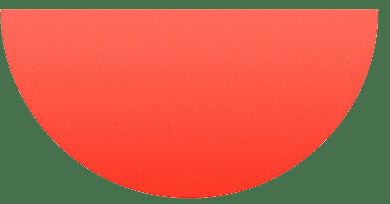 Semi circle, Red gradient