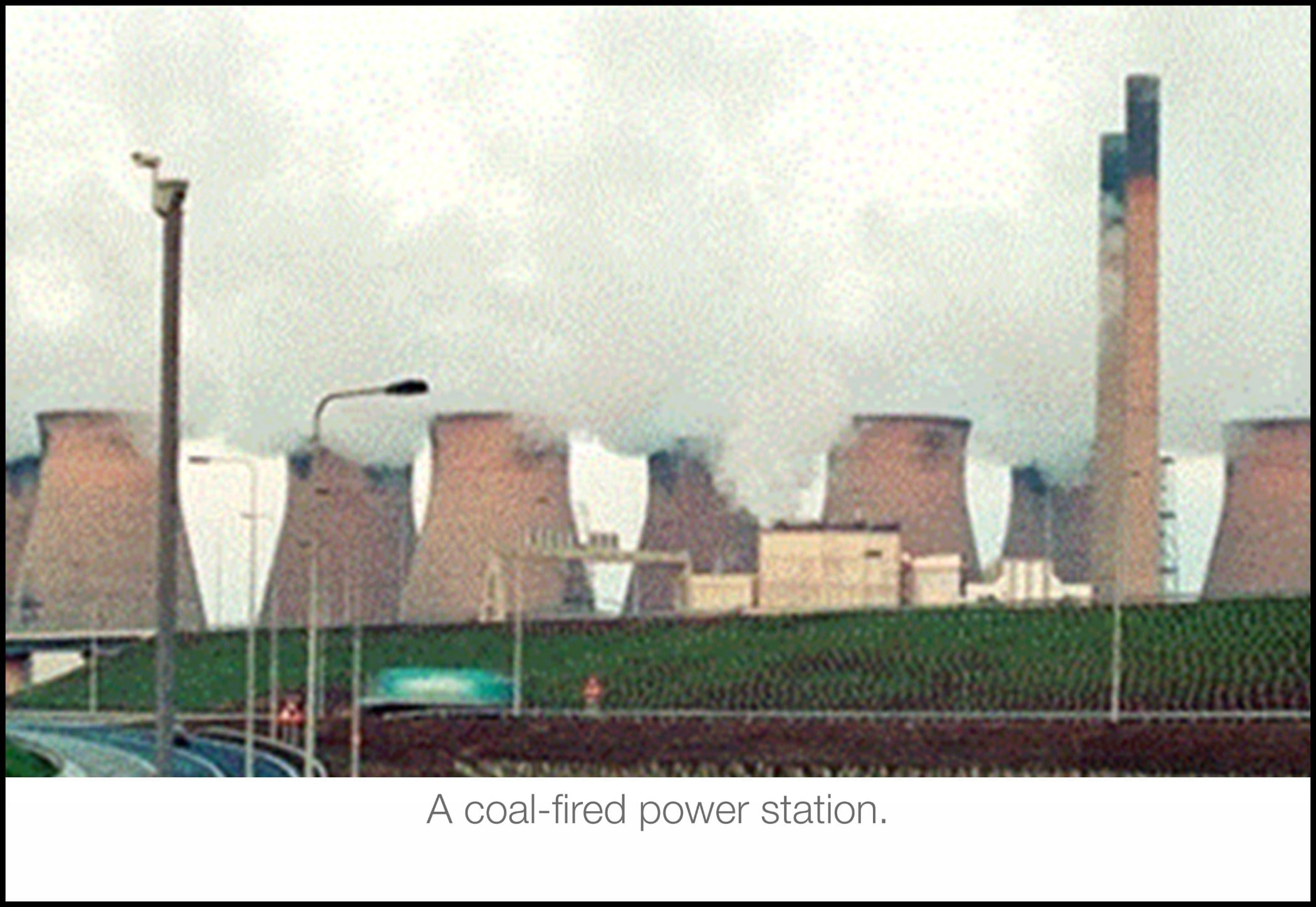 Cooling tower, Power station