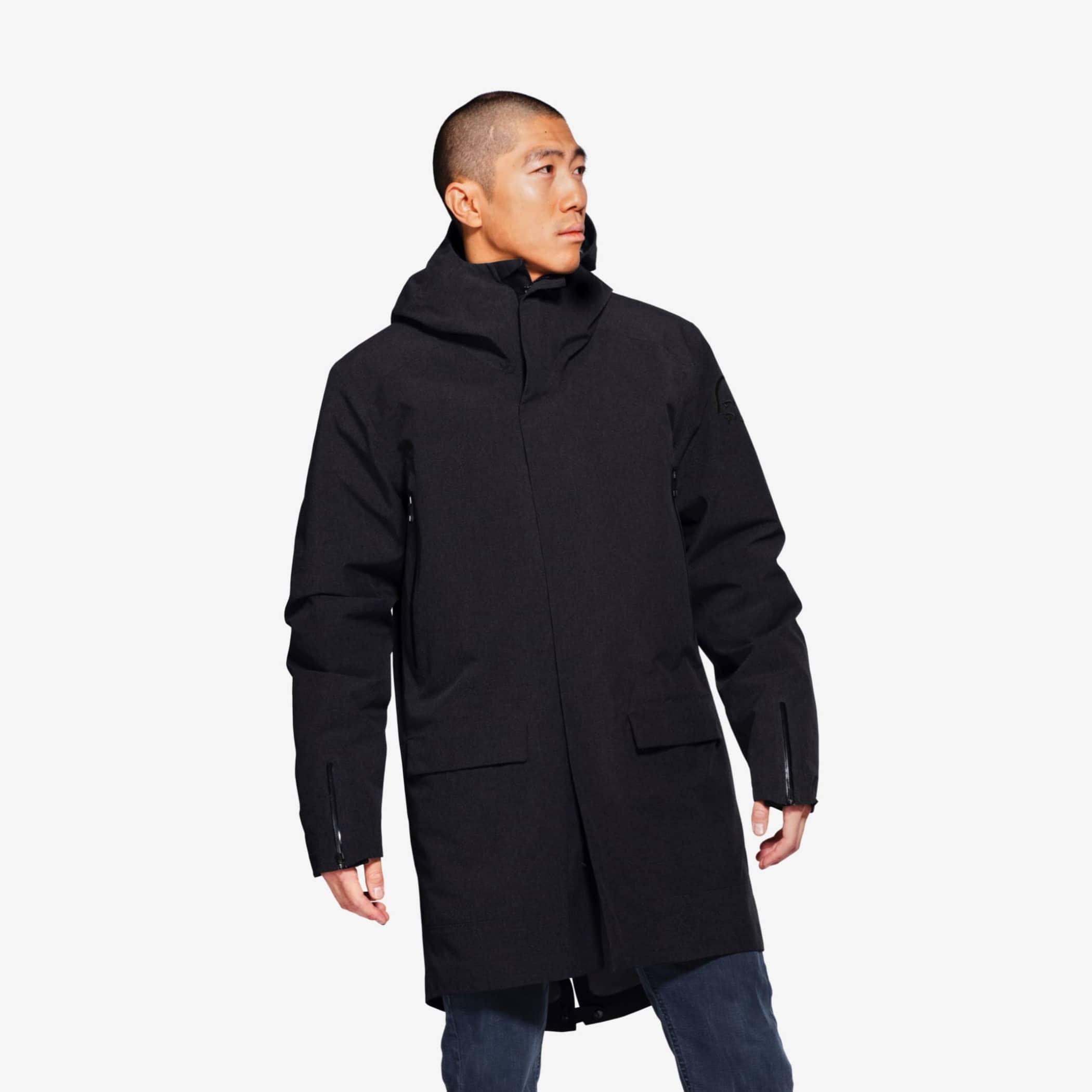 Sleeve, Black, Parka, Coat, Hood, Outerwear, Jacket, Clothing