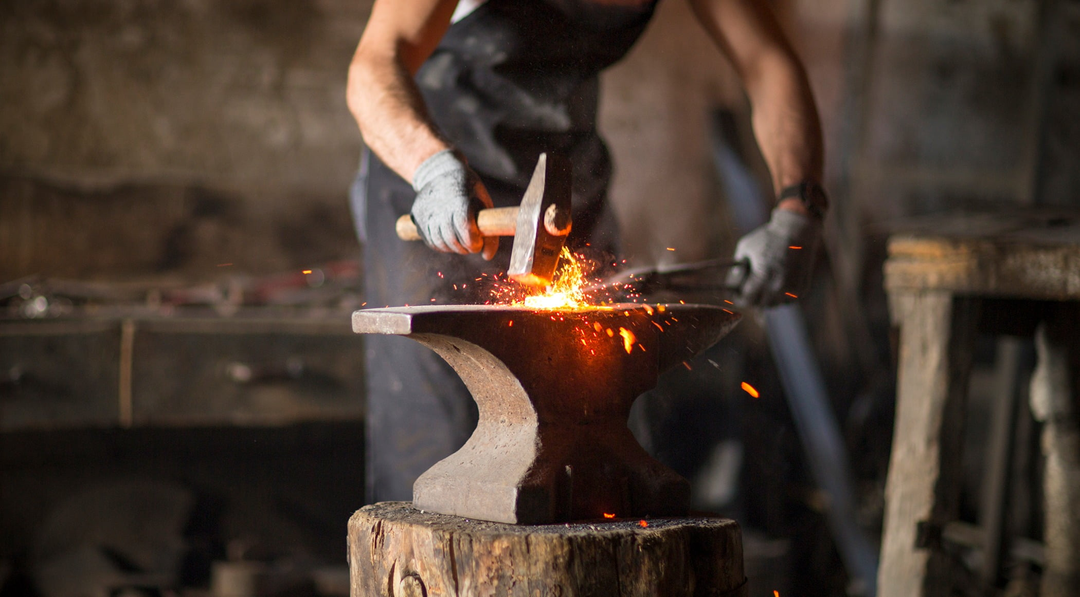 Muscle, Metalworking, Fire, Flame