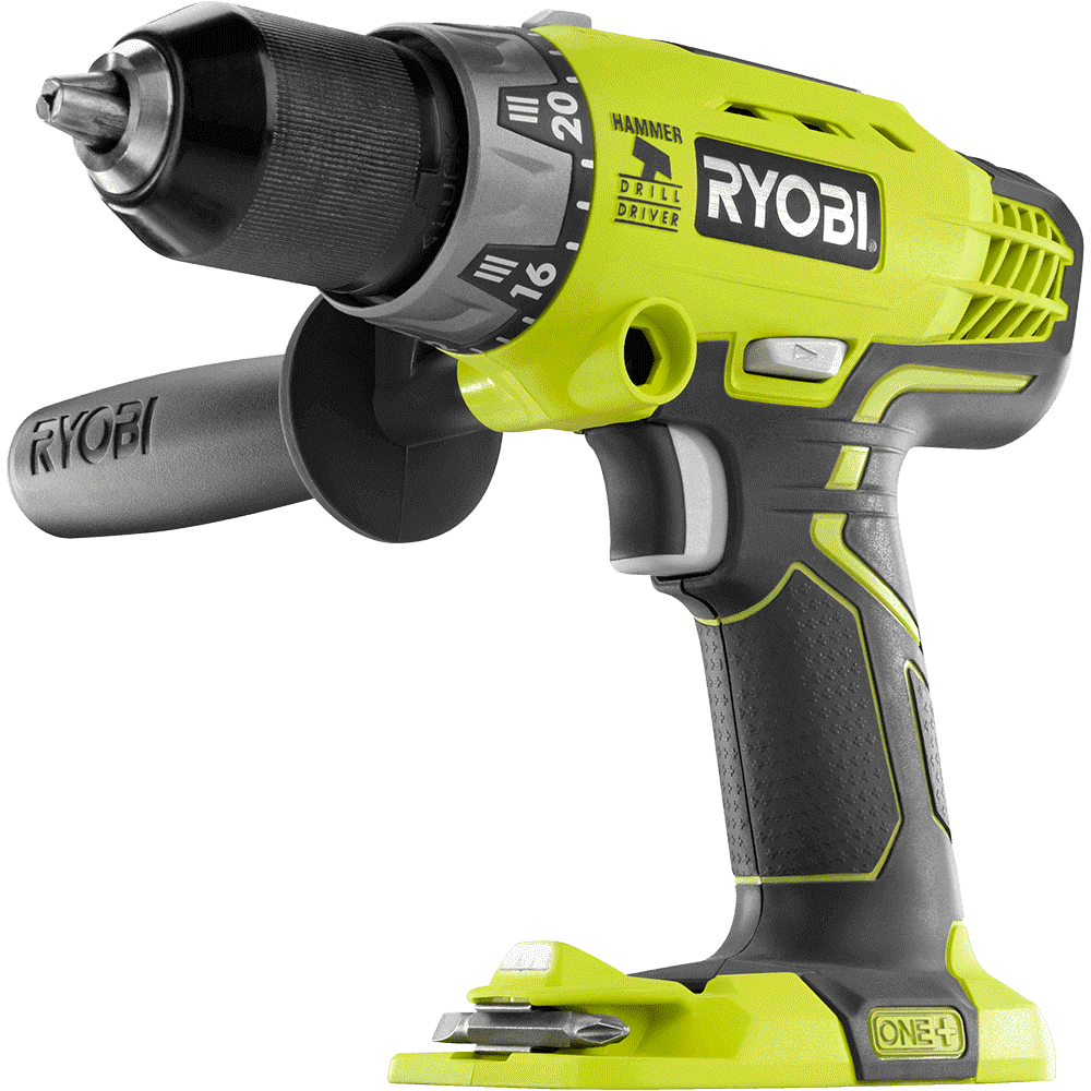 Handheld power drill, Pneumatic tool, Impact wrench, Yellow, Font