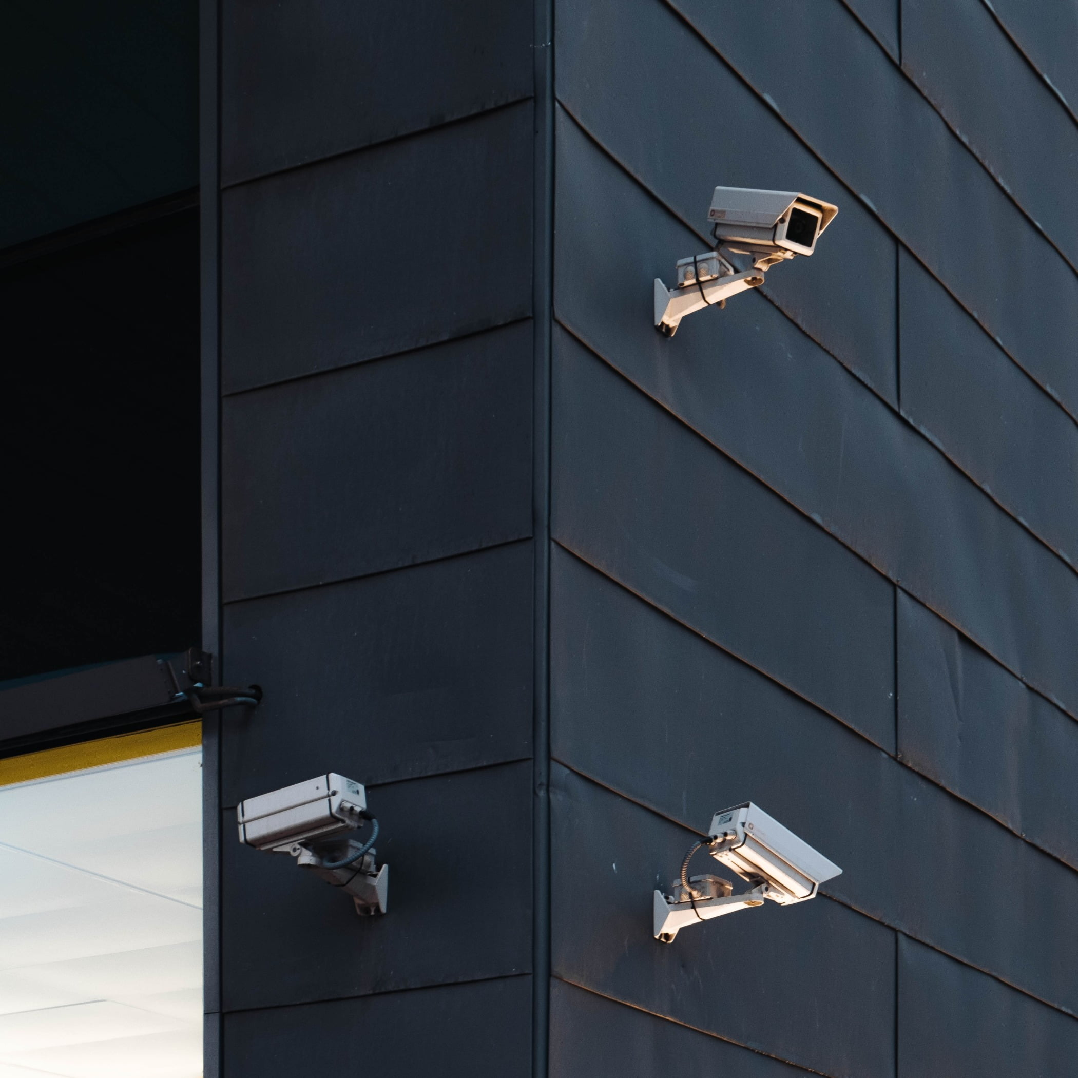 Surveillance cameras spotted at Barcelonas design museum.