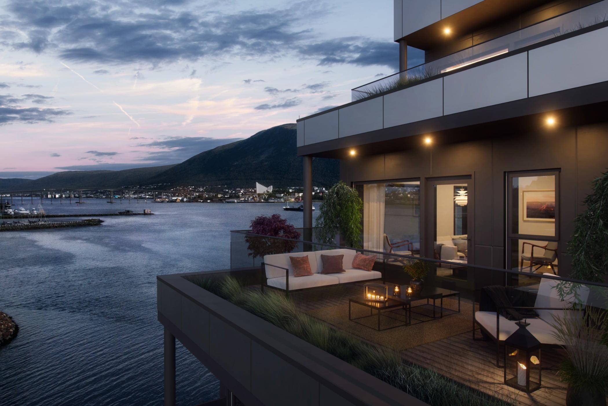 Interior design, Cloud, Sky, Building, Property, Plant, Window, Houseplant, Water, Flowerpot