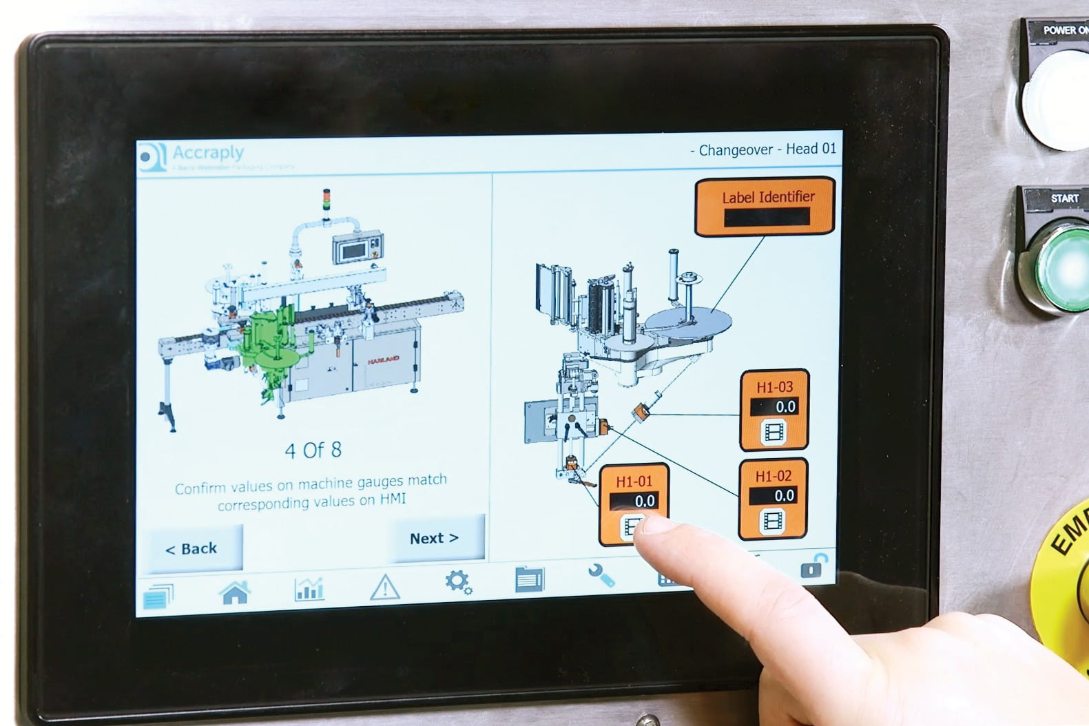 The Smartlink HMI aids operator setup and reduces downtime with video tutorials that advise the operator on routine maintenance tasks.
