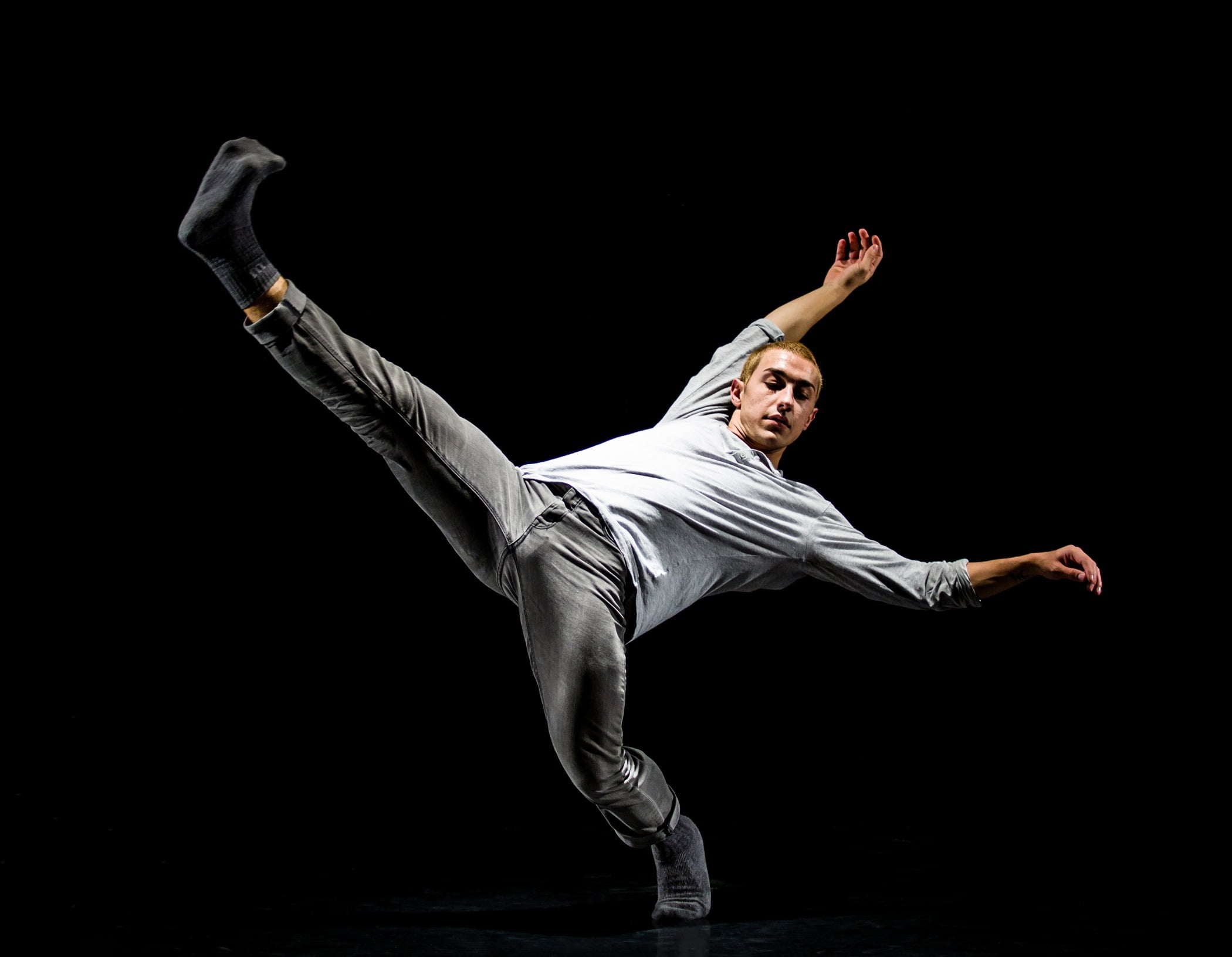 Athletic dance move, Flash photography, Trousers