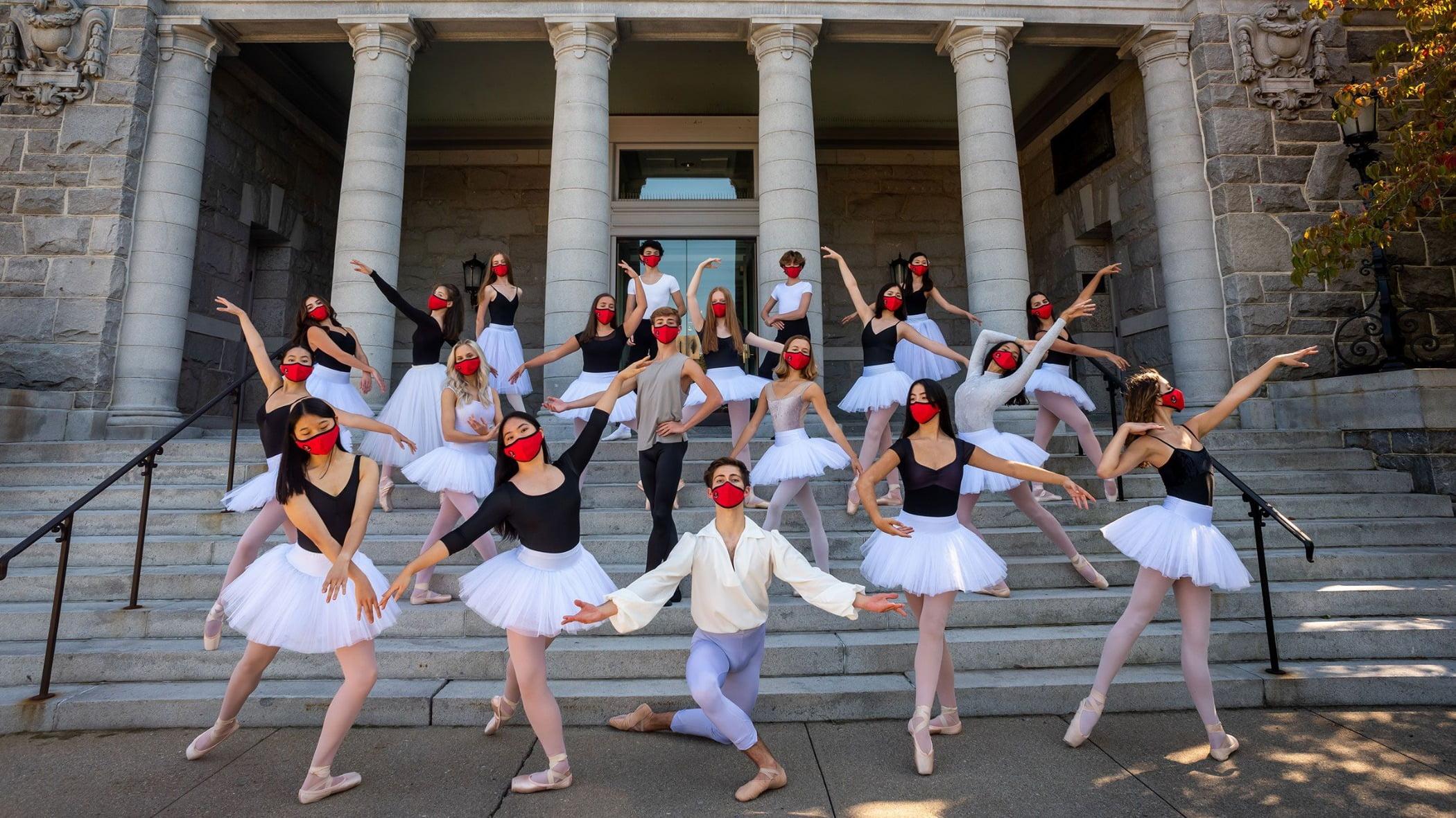 Performing arts, Dress, Dance, Window, Entertainment, Headgear, Choreography