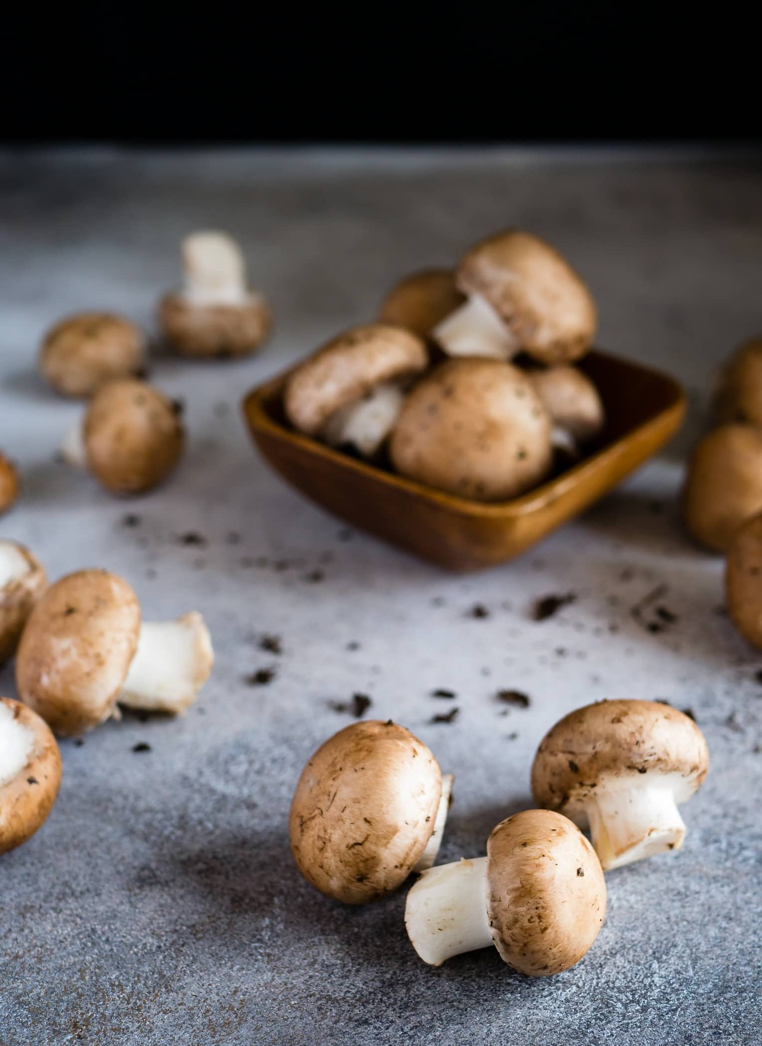 Some of my favorite food photos are of the ingredients the way they come to you. Raw. Unwashed. Touched only by nature and a farmer or two. I love the pure and unadorned beauty of these mushrooms.