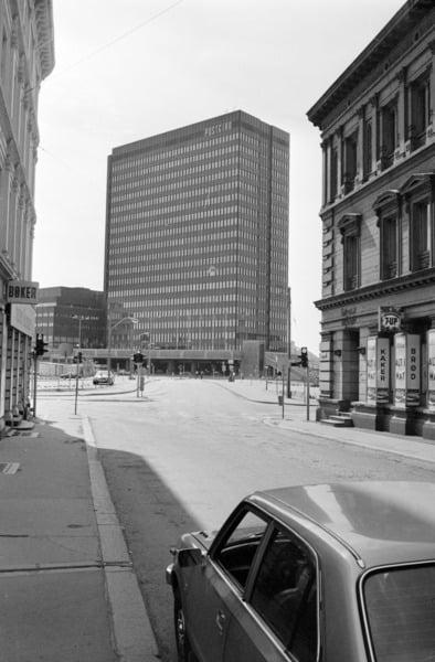 Car, Building, Vehicle, Sky, Photograph, White, Window, Black, Infrastructure, Skyscraper