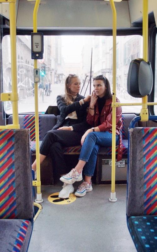 Mode of transport, Motor vehicle, Public space, Shoe, Bus, Yellow, Travel
