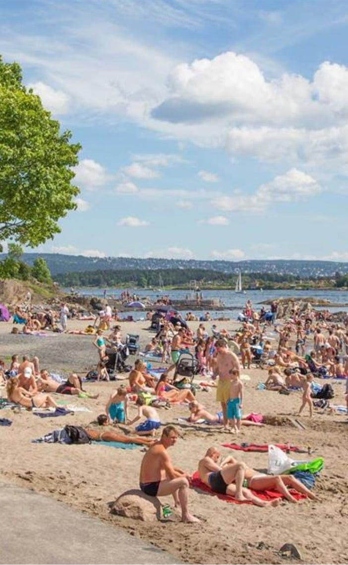 Coastal and oceanic landforms, People on beach, Cloud, Sky, Water, Swimwear, Tree, Leisure, Travel