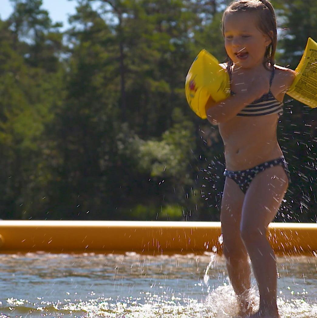 People in nature, Swimming pool, Water, Swimwear, Happy, Tree