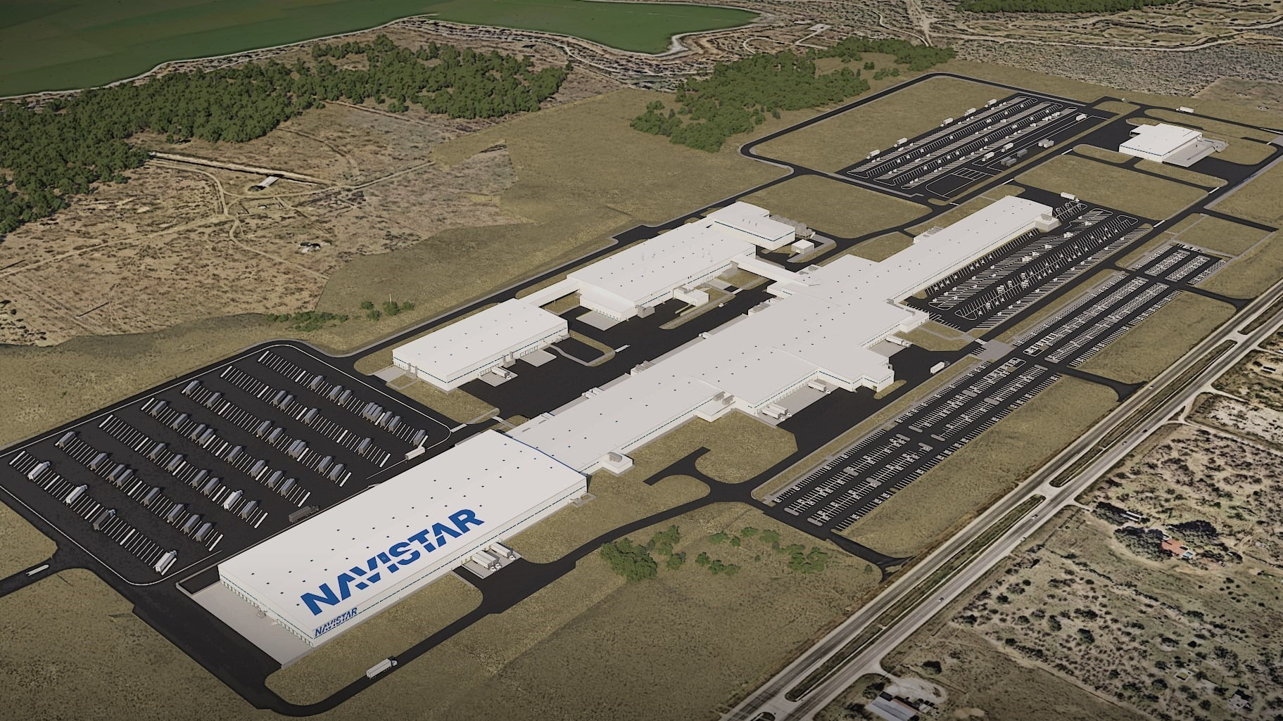aem0221truck10: Navistars new assembly plant in San Antonio will feature cutting-edge Industry 4.0 technology.