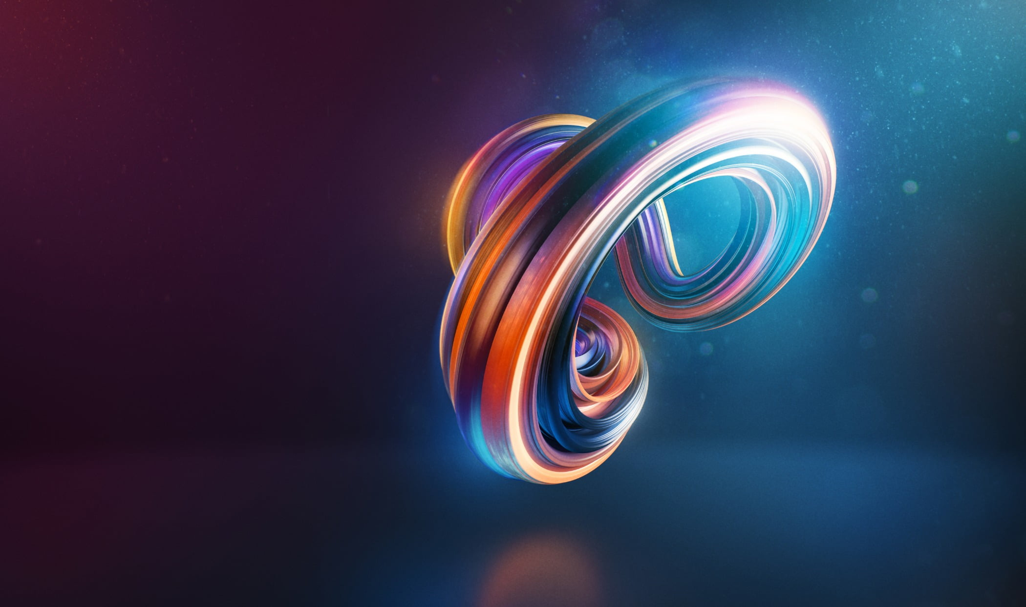 Abstract curved and twisted shape 3d render
