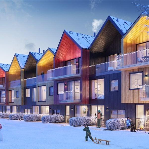 Cloud, Sky, Building, Property, Window, Blue, Azure, Lighting, Snow, House