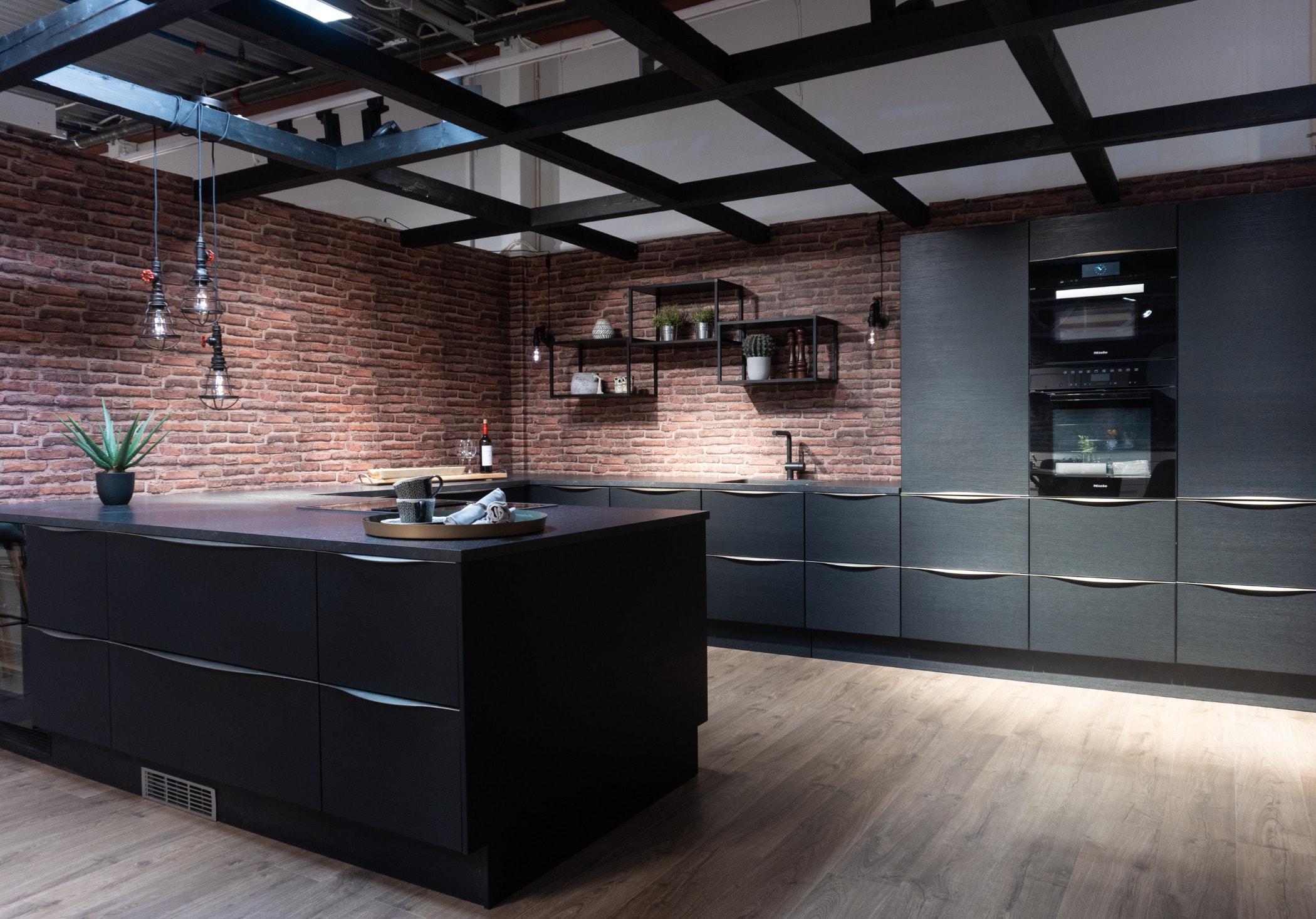 Interior design, Floor, Tile, Ceiling, Property, Furniture, Kitchen, Room, Cabinetry, Countertop