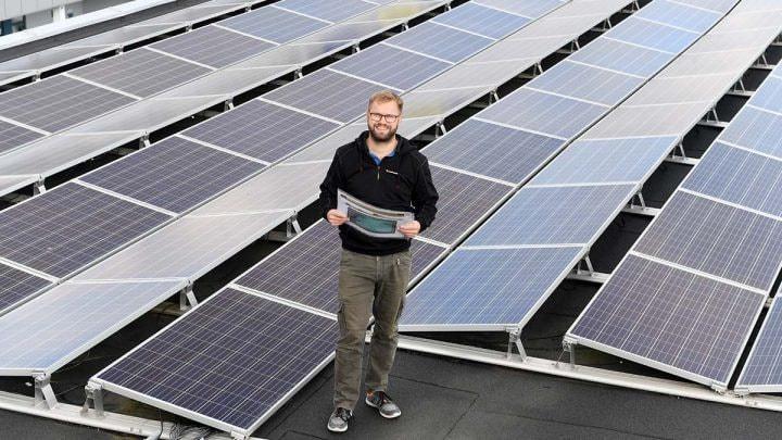 Solar panel, Line, Technology, Product